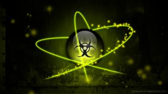 Biology biohazard biological digital art signs wallpaper