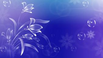Blue animated background Wallpaper