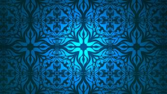 Blue pattern desktop background wallpaper