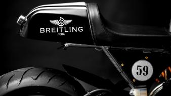 Breitling black cafe racer motorbikes motorcycles Wallpaper