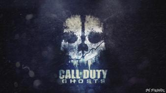 Call of duty ghosts skulls video games wallpaper