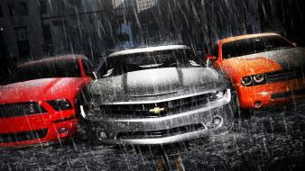 Chevrolet camaro dodge shelby mustang cars Wallpaper