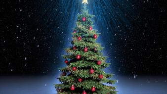 Christmas trees celebration decorations wallpaper