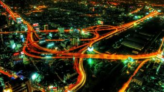 Cities cityscapes long exposure night wallpaper