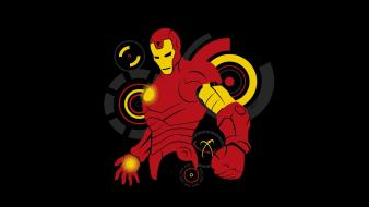 Comics tony stark black background fan art Wallpaper