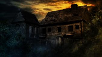 Creepy creepypasta dark houses scary wallpaper