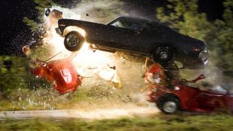 Death proof car crash cars explosions wallpaper