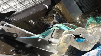 Earth hatsune miku saberiii space shuttle vocaloid wallpaper