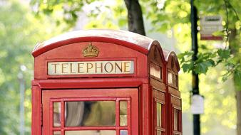 English telephone booth phone wallpaper