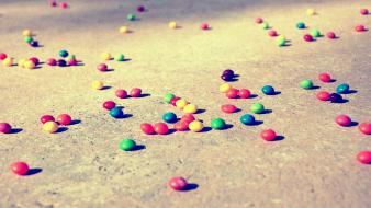 Fallen rainbows sweets candies vintage wallpaper