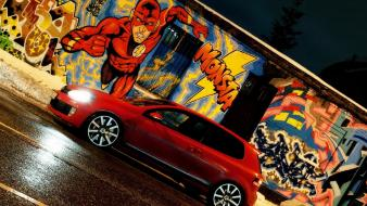Flash superhero mtm volkswagen golf gti cars wallpaper