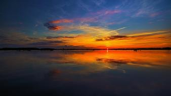 Germany glow reflections sea sunset wallpaper