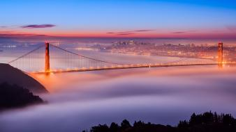 Golden gate bridge san francisco black bridges buildings wallpaper