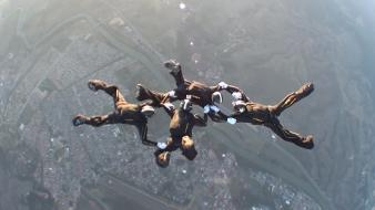 Golden knights parachute skydiving sports wallpaper