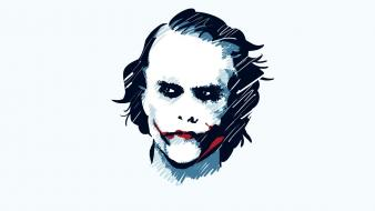 Heath ledger the joker movies simple background wallpaper