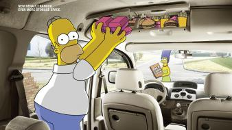 Homer simpson marge renault tv the simpsons wallpaper
