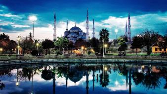 Istanbul sultan ahmet turkey cities cityscapes Wallpaper