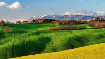 Italy fields landscapes nature sky wallpaper