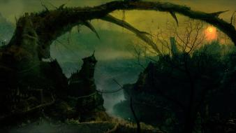 John dickenson artwork digital art fantasy houses wallpaper