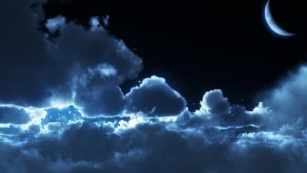 Night clouds background wallpaper