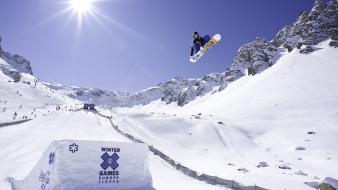 Seasons snow snowboard snowboarding sports Wallpaper