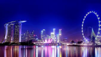 Singapore night view Wallpaper