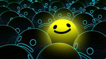 Smiley faces 3d wallpaper
