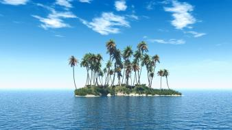 Tropical beach island Wallpaper