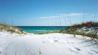 White beach sand wallpaper