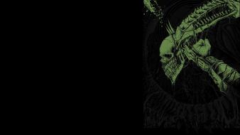 Alien h.r. giger black background fan art movies wallpaper