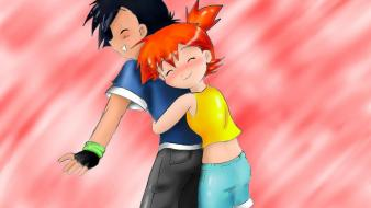 Ash ketchum misty (pokemon) pokemon friendship love wallpaper