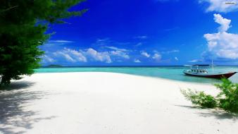 Beach white sand wallpaper
