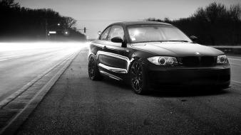 Bmw cars grayscale roads tuning wallpaper