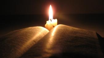 Books candles Wallpaper