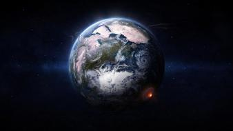 Earth apocalypse end of the world planets space Wallpaper