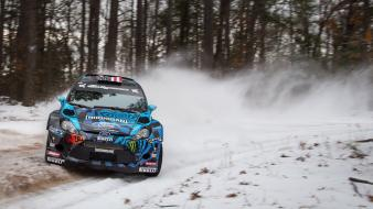 Ford fiesta wrc ken block cars racing rally wallpaper