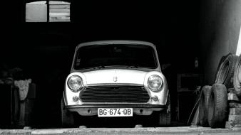 French mini austin black cars wallpaper