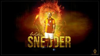 Galata galatasaray wesley sneijder football players soccer wallpaper