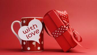 Gifts love red Wallpaper