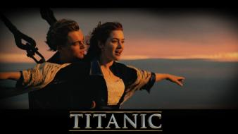Kate winslet leonardo dicaprio titanic movies ships Wallpaper