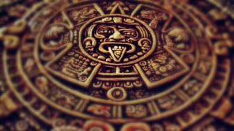 Mexico archeology aztec clocks sculptures Wallpaper