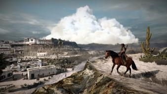 Red dead redemption deserts games horses west wallpaper