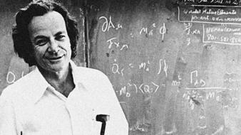 Richard feynman blackboards equations grayscale men wallpaper