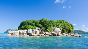Seychelles islands nature rocks sea wallpaper