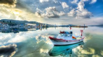 Turkey boats kayak sea shorelines wallpaper