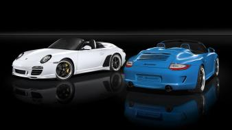 911 porsche speedster pure blue wallpaper