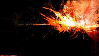 Abstract backgrounds digital art flames orange wallpaper