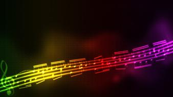 Abstract black background colors multicolor music wallpaper