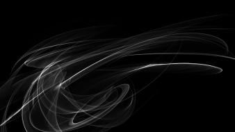 Abstract black colors forms wallpaper