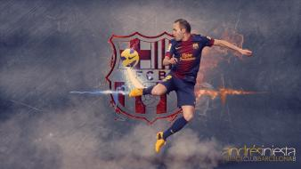 Andrés iniesta fc barcelona football players soccer Wallpaper